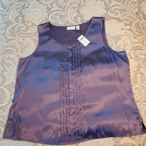 Chico's Plum Frost Silky Tank